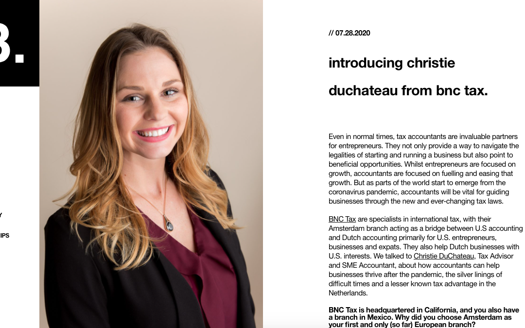 Christie DuChateau Featured on B. Building Business